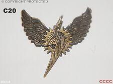 Lo Steampunk Gioielli Spilla Badge LIGHTNING BOLT Gufo Ali Harry Potter COSPLAY