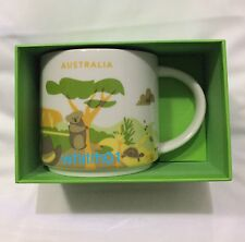 Starbucks Australia Mug YAH Koala Kangaroo You Are Here Ayers Turtle Outback