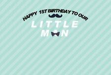 Happy 1st Birthday Photography Background Little Man Boys Gentleman Backdrop