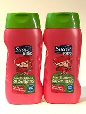 LOT 2 SUAVE KIDS 2-IN-1 FAIRY BERRY STRAWBERRY SHAMPOO SMOOTHERS WASH 12 FL OZ