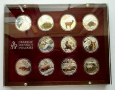 POLAND 2009 ANIMALS IN DANGER RED BOOK WWF proof silver colour 11 pcs box + COA