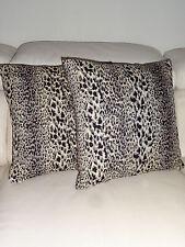 "Leopard Print Pillow Cover 18""x18"", Animal Print Pillow Sham"