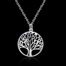 Tree of Life White Gold Plated Pendant Necklace Choker Women Fashion Jewelry