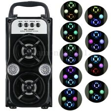 LED SPEAKER BLUETOOTH CASSA AMPLIFICATA USB/TF/AUX/FM RADIO MP3 PLAYER TELEFONO