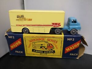 P618-MATCHBOX MAJOR PACK No2 BEDFORD WALLS ICE CREAM TRUCK AND ORIGINAL BOX