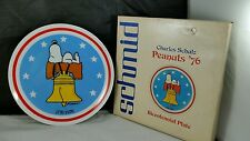 """Peanuts Snoopy Bicentennial Plate 8"""" Schmid 1976 with Box"""