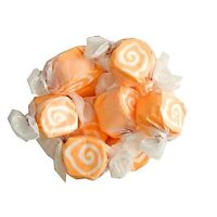 GOURMET ORANGE CREAM Salt Water Taffy Candy TAFFY TOWN 1/4 LB  to 10 LB BAG