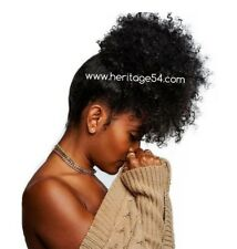 #1B Large size Synthetic Curly Wave Hair Clip In Ponytail Afro Kinky Puff Wrap