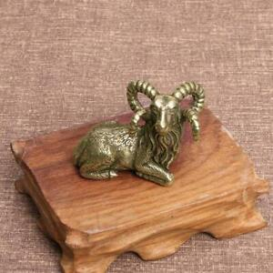 Brass Goat Figurines Small Sheep Statue House Ornament Animal figurines Toys