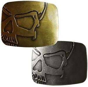Boucle Boucles de Ceinture Motard 3D Tête de Mort Vintage Look metall