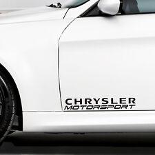Chrysler Aufkleber Motorsport für 2 x Tür 300C Crossfire PT Cruiser Emblem Logo