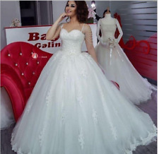New White/ivory Lace Tulle Spaghetti Strap Wedding dress Bridal Gown Custom size