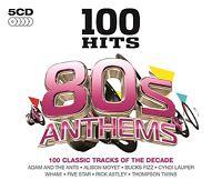 100 HITS-80'S ANTHEMS 5 CD NEU WHAM!/RICK ASTLEY/FIVE STAR/+