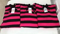 Michael Kors Women's Striped Sweater Hoodie Select Size S,M,L Black/Pink NWT$155