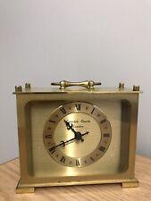 vintage clock /carriage/mantel /brass-working nicely ,superb japan movement