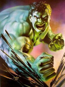 Marvel Hulk Comic Art Incredible Green Muscles Vigilante Superhero Iron Man