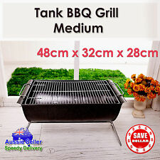Charcoal BBQ Grill Portable Outdoor Barbecue Camping Stainless Steel Barrel