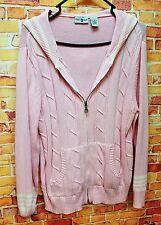 womens Duck Head hooded jacket/cardigan sweater sz Lg.