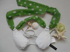 *NWT!~Radio Fiji/Bikini Top~Key Lime Green/White~Med