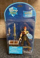 DISNEY STORE Heroes PETER PAN Action Figure Light Up Sword Treasure Chest