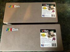 Lot of 2 ArtBin Brush Box- Art Crafts Storage New!