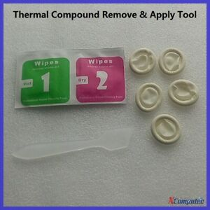 Tool: Thermal Compound Remove Clean Wipes and Apply Scraper and Finger Sheath