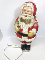 "Vintage Poloron Christmas 31"" Santa Claus with Lighted Blow Mold Sold AS IS"