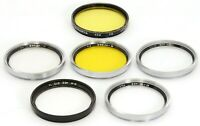 Set of FIVE B+W 46E + MIRANDA Y2 Yellow 46mm Filters for Leica SUMMILUX Nikkor