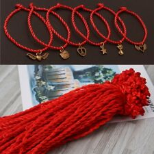 100PCS Red String Kabbalah Bracelets Ethnic Red Rope Lanyard Accessory Jewelry