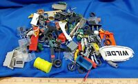 HUGE LOT Misc VTG Toys PARTS Model Car replacement Wheels Tires Car Train Track
