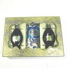 EVENING IN PARIS BOURJIOS box set 3 full talc cologne toilet blue bottle ʱ t3