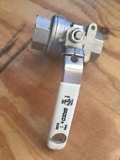 GROCO Ball Valve 1-inch FNPT 316SS 1000WOG Locking Lever Gently Used