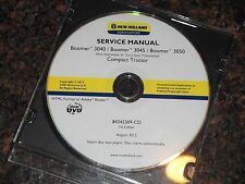 NEW HOLLAND BOOMER 3040 3045 3050 TRACTOR SERVICE SHOP REPAIR MANUAL BOOK CD
