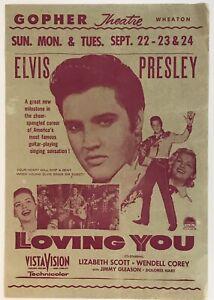"""Vintage 1957 Elvis Presley """"Loving You"""" Original Window Display from Wheaton MN"""