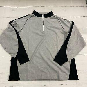 Foot Joy Golf 1/4 Zip Gray Long Sleeve Pullover Men Size 2XL NEW