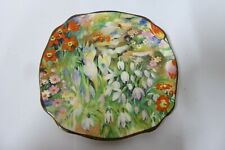 VINTAGE CHINTZ FLORAL ALL OVER DISH PLATE  ART DECO