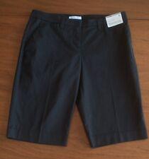NWT New York & Company Women's Size 4 Low Rise Stretch Black Bermuda Shorts