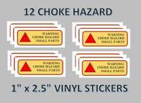 12  Choke Hazard Stickers Labels vending vendstar   x