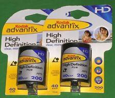 2 Kodak Advantix High Definition 200 Speed 40 Exposure Film Expired Hd New Nos