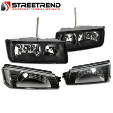 For 2002-2006 Chevy Avalanche Body Cladding Black Headlights Signal Corner Lamps