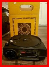 Kodak Carousel 600 Slide Projector With 4 Inch Lens, Tray & Bulb TESTED WORKING!
