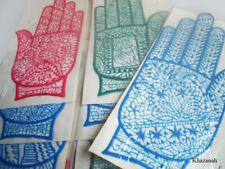 6x HENNA RUBBER STENCIL, Reusable Mehandi Tattoo, Body Art, Various Hand Design