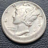1941 Mercury Dime 10c MINT ERROR - OFF CENTER Rare #30348