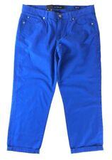 Calvin Klein Jeans Womens Skinny Crop Cuffed Stretch Cobalt Blue Size 14 New