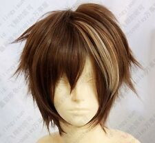 Hot ! Free shipping Guilty Crown OUMA SHU Fashion brown mix short cosplay wig