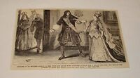 1880 magazine engraving ~ WOMAN ATTEMPTING TO 'BOX' A MAN