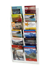 porta brochure da Muro a 12 tasche A5 x agenzia viaggi negozio fiera hotel trasp