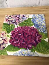 4 Shabby Chic Decoupage Napkins Botanical Hydrangea