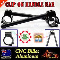 50MM CNC Black Fork CNC Clip On On Handlebar for SUZUKI RGV250