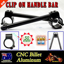 50MM CNC Black Fork CNC Clip On On Handlebar for SUZUKI GSXR1300 BUSA